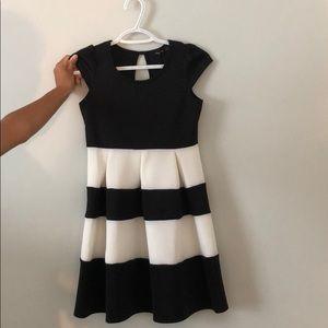 black and white kids dress